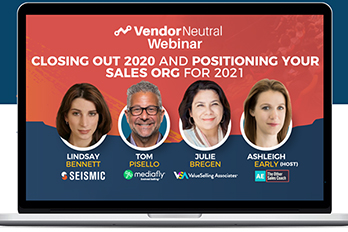 My Take: Closing Out 2020 And Positioning Your Sales Org For 2021